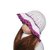 Панамы ручной работы. Ярмарка Мастеров - ручная работа Летняя шапочка для маленькой модницы. Handmade.