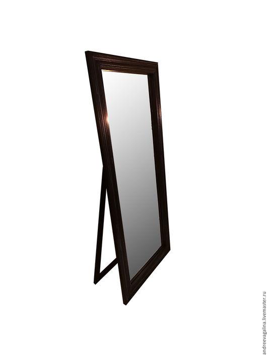 Зеркала ручной работы. Ярмарка Мастеров - ручная работа. Купить Зеркало напольное. Черное.. Handmade. Черный, мебель из дерева