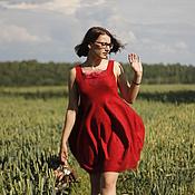 """Одежда ручной работы. Ярмарка Мастеров - ручная работа Валяное платье """"Красный тюльпан"""". Handmade."""