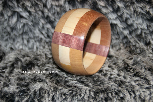Браслеты ручной работы. Ярмарка Мастеров - ручная работа. Купить Браслет деревянный Пастель. Handmade. Комбинированный, браслет из дерева