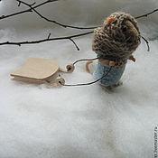 Куклы и игрушки ручной работы. Ярмарка Мастеров - ручная работа За хворостом. Мышь из шерсти.. Handmade.