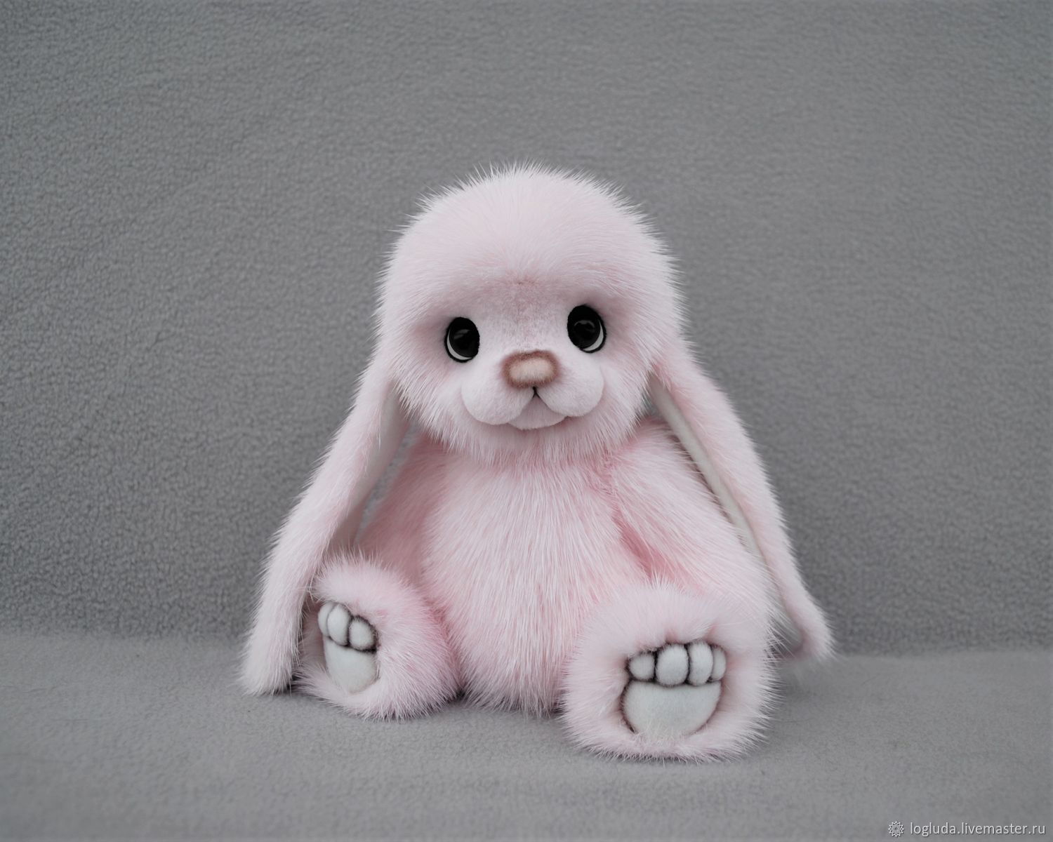 Bunny made from natural mink fur, Teddy Bears, Horde,  Фото №1