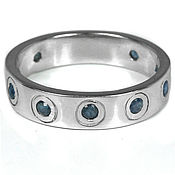 Украшения handmade. Livemaster - original item Silver ring with blue sapphires