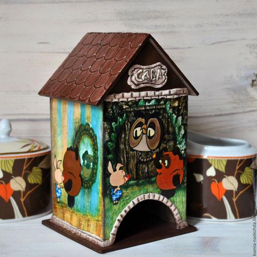 """Кухня ручной работы. Ярмарка Мастеров - ручная работа. Купить Чайный домик """"Винни Пух идет в гости"""". Handmade."""