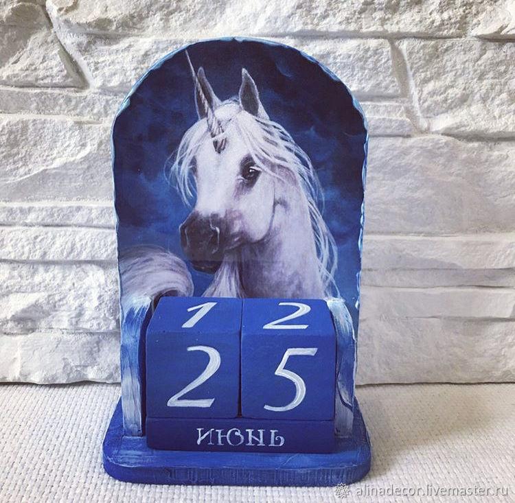 Perpetual calendar Unicorn, Calendars, Ramenskoye,  Фото №1