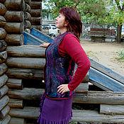 Одежда ручной работы. Ярмарка Мастеров - ручная работа Жакет валяный- треугольники. Handmade.