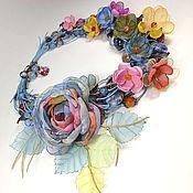 Украшения handmade. Livemaster - original item Waltz Of Spring Rains. Necklace, earrings, brooch flower, fabric flowers. Handmade.