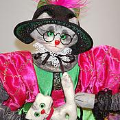 Куклы и игрушки ручной работы. Ярмарка Мастеров - ручная работа Кошка Жаклин. Handmade.