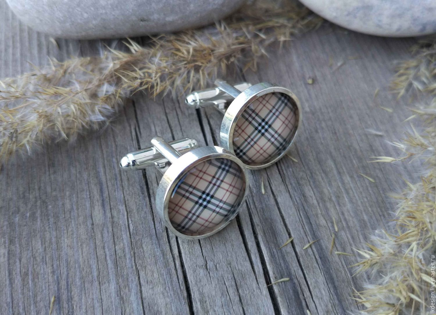 Cufflinks silver plated Cage black (large), Cuff Links, Moscow,  Фото №1