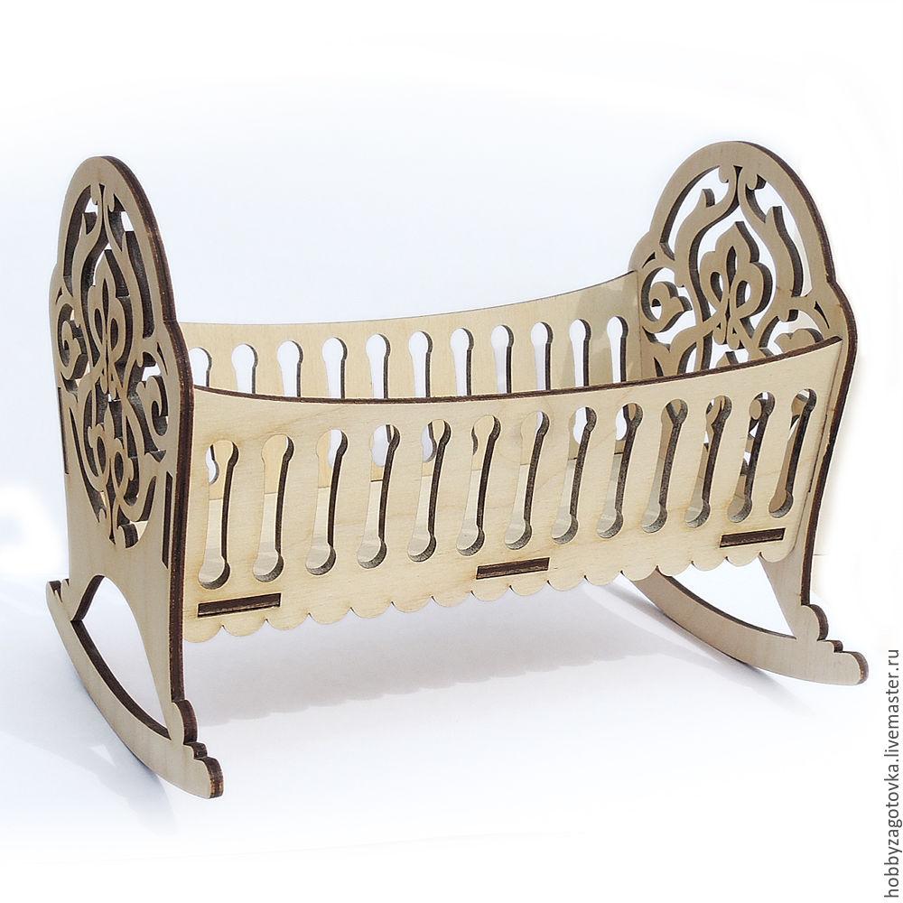 Мебель для кукол: колыбель. F-0476, Декупаж и роспись, Ступино, Фото №1