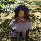 Куклы и игрушки ручной работы. Ярмарка Мастеров - ручная работа Кукла в стиле Тильда Сиреневая Рыжинка. Handmade.