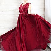Платья ручной работы. Ярмарка Мастеров - ручная работа Вечернее новогоднее платье, на выпускной, свадебное, размер 42-44. Handmade.