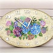 Для дома и интерьера ручной работы. Ярмарка Мастеров - ручная работа часы настенные Гортензии. Handmade.