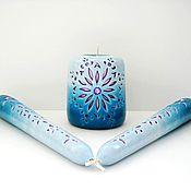 Свадебный салон ручной работы. Ярмарка Мастеров - ручная работа Свадебные свечи ручной работы - авторские резные свечи - морская вода. Handmade.