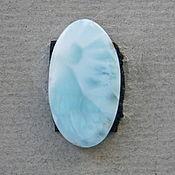 №695 Ларимар. Кабошоны из натуральных камней