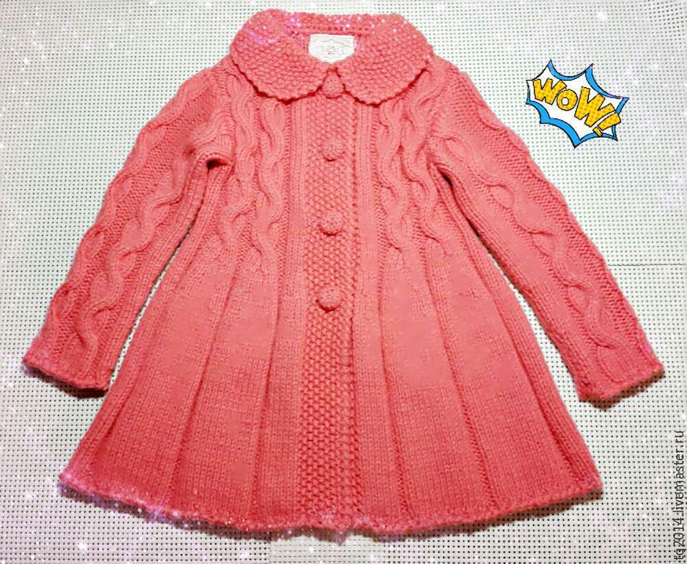 Вязание спицами пальто для девочки 3 года схема 135