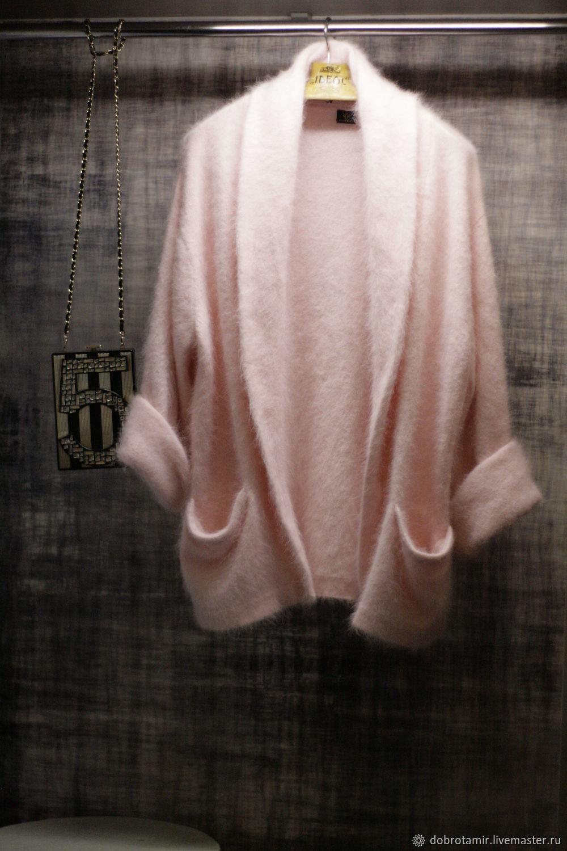 Soft pink cardigan with shawl collar, Cardigans, Ekaterinburg,  Фото №1