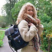 Сумки и аксессуары handmade. Livemaster - original item Leather backpack women`s blue ninja Mod P12-161-1. Handmade.