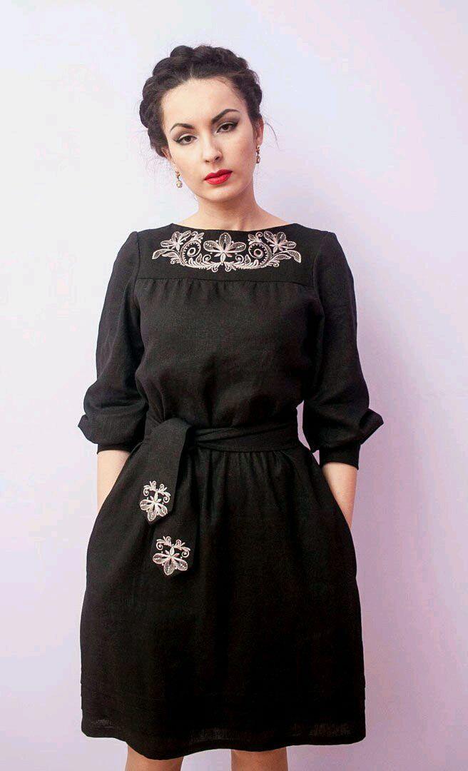 Льняное женское платье  a14b4c83aef57