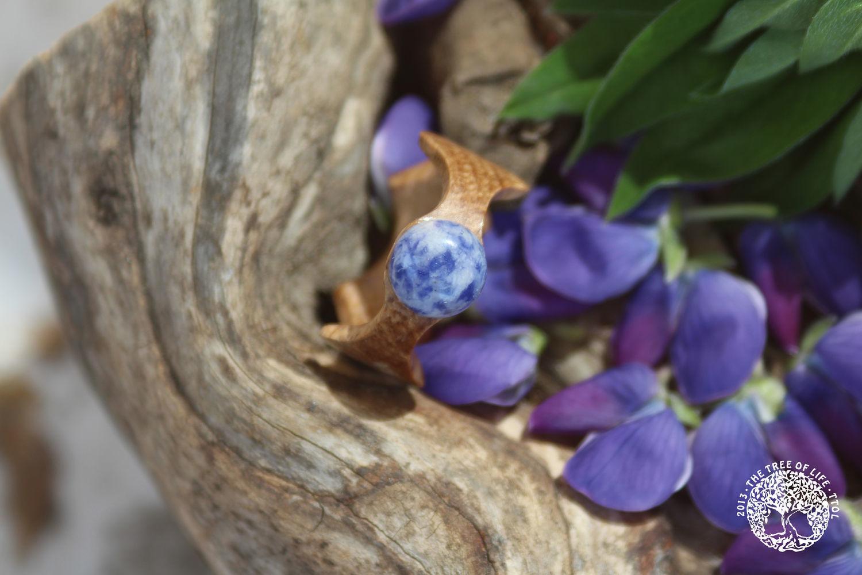 Кольцо из дуба с лазуритом, Кольца, Санкт-Петербург,  Фото №1