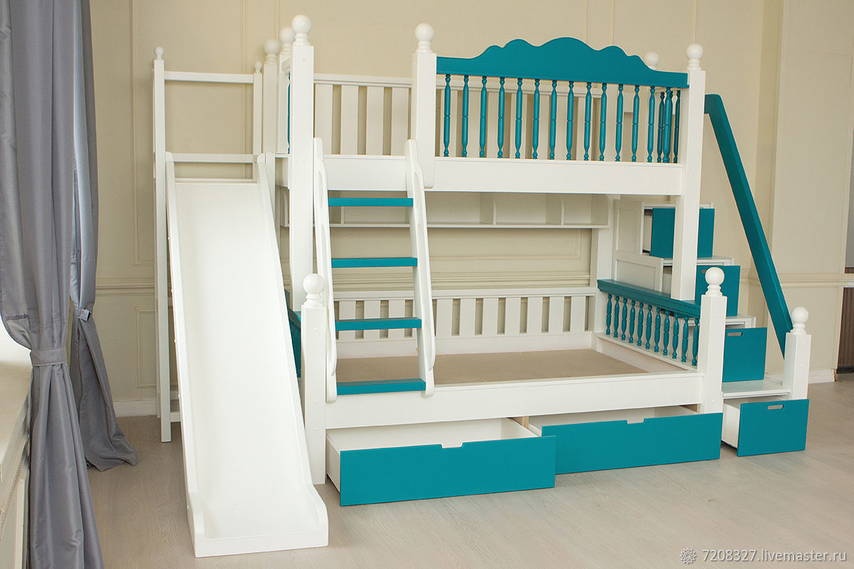 The Bed Has Built In Drawers For Storage Which Turn Sat Under Stairs