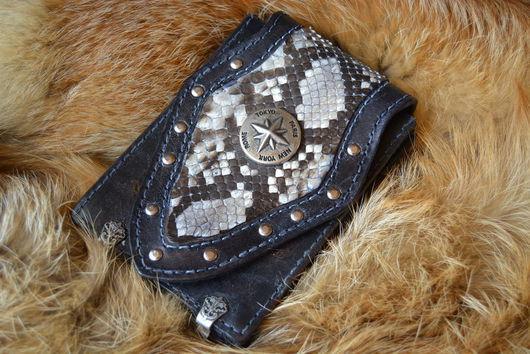 Для телефонов ручной работы. Ярмарка Мастеров - ручная работа. Купить Байк классик стиль сумка под мотодокументы, паспорт, айфон. Handmade.