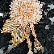 handmade. Livemaster - original item A beaded brooch