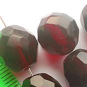"""Материалы для творчества ручной работы. Ярмарка Мастеров - ручная работа Бусины 12 мм стеклянные раненые """"Гранат"""". Handmade."""