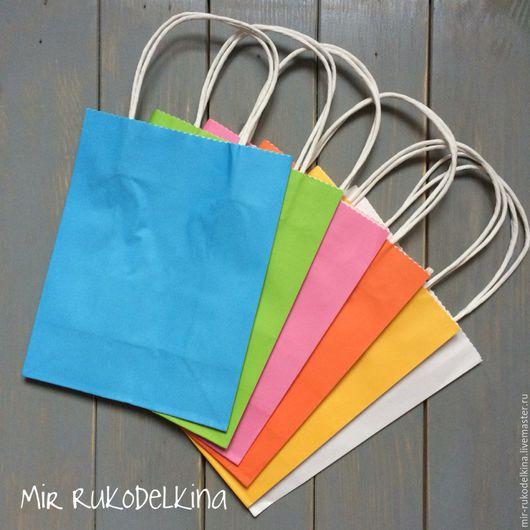Подарочная упаковка ручной работы. Ярмарка Мастеров - ручная работа. Купить Упаковочные крафт-пакеты (цветные). Handmade. Крафт пакет