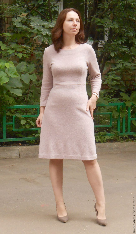Платья из шерстяного трикотажа