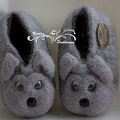 Обувь ручной работы. Ярмарка Мастеров - ручная работа Валяные тапки - звери. Handmade.