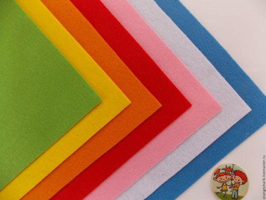 Куклы и игрушки ручной работы. Ярмарка Мастеров - ручная работа. Купить Набор мягкого корейского фетра 7 цветов 20х30. Handmade.