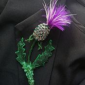 Украшения handmade. Livemaster - original item Brooch-pin: Thistle. Handmade.