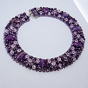 "Украшения handmade. Livemaster - original item Necklace ""Amethyst Queen"". Handmade."