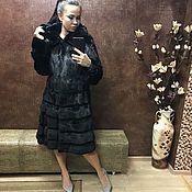 Одежда ручной работы. Ярмарка Мастеров - ручная работа Шуба норковая черная платьем. Handmade.