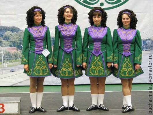 """Танцевальные костюмы ручной работы. Ярмарка Мастеров - ручная работа. Купить Ирландское танцорское платье """"Ирландия"""". Handmade. Однотонный"""