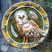 Plates handmade. Livemaster - original item Plate ceramic