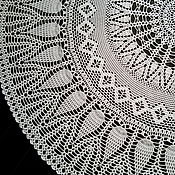 """Для дома и интерьера ручной работы. Ярмарка Мастеров - ручная работа Скатерть вязаная """"Ассорти"""", 158 см. Скатерть крючком, круглая скатерть. Handmade."""