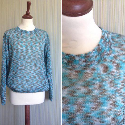 Кофты и свитера ручной работы. Ярмарка Мастеров - ручная работа. Купить пуловер из мохера, мята/кофе. Handmade. Бирюзовый, абстрактный
