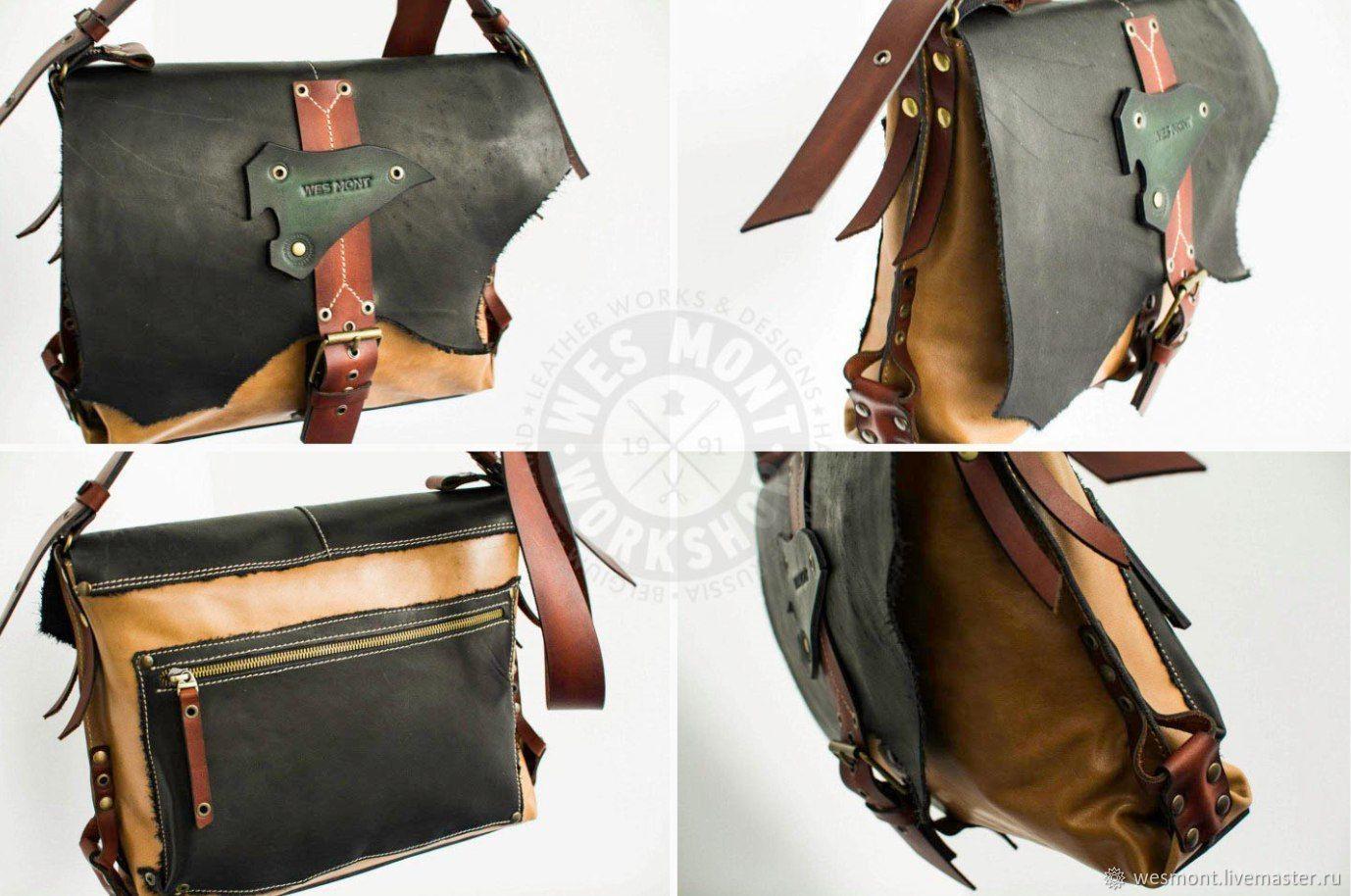 1c9860310a8b Мужские сумки ручной работы. Сумка кожаная универсальная ГАУЧО-4  Эксклюзивная, авторская работа.