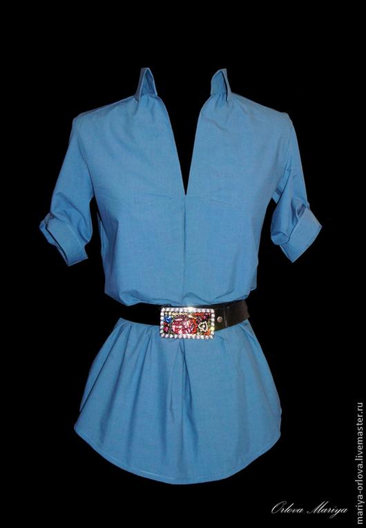 Блузки ручной работы. Ярмарка Мастеров - ручная работа. Купить Блузка. Handmade. Однотонный, блузка повседневная, хлопок