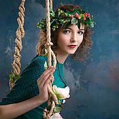 """Диадемы ручной работы. Ярмарка Мастеров - ручная работа Венок из листьев и ягод """" Лесная фея"""". Handmade."""