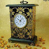 Для дома и интерьера ручной работы. Ярмарка Мастеров - ручная работа Часы каминные деревянные, часы каминные настольные. Handmade.