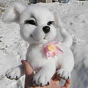 Подарки к праздникам handmade. Livemaster - original item White puppy. Handmade.
