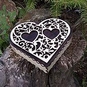 """Шкатулки ручной работы. Ярмарка Мастеров - ручная работа Шкатулка """"Сердце"""". Handmade."""