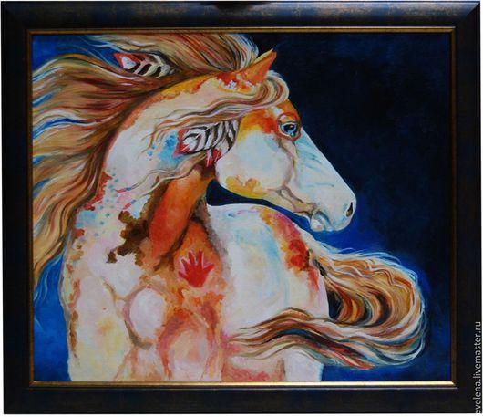 Животные ручной работы. Ярмарка Мастеров - ручная работа. Купить Белая Ночь. Handmade. Лошадь, фентези, холст, белая лошадь