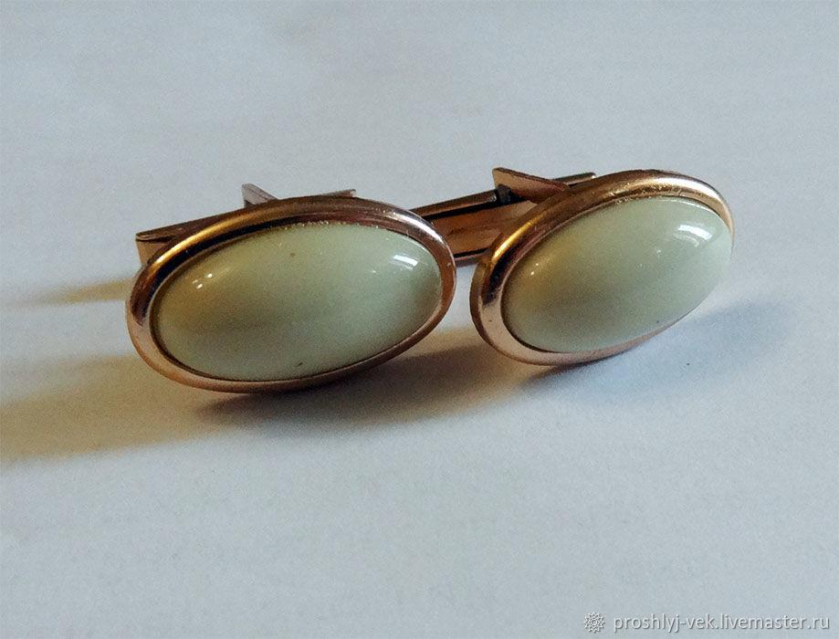 Oval cufflinks, 1970's, Vintage cufflinks, Moscow,  Фото №1