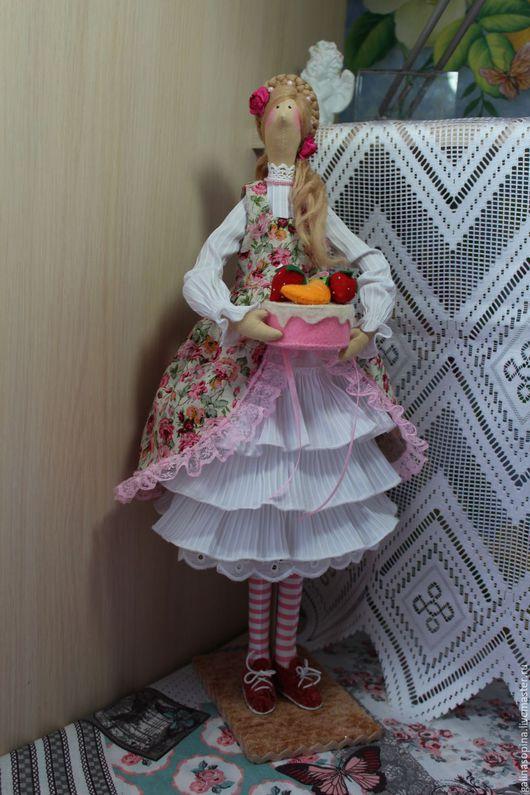 Куклы Тильды ручной работы. Ярмарка Мастеров - ручная работа. Купить Кукла-Тильда Лизонька. Handmade. Комбинированный, подарок девушке