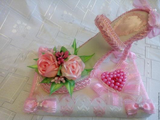 Персональные подарки ручной работы. Ярмарка Мастеров - ручная работа. Купить сувенир туфелька. Handmade. Розовый, сувениры ручной работы