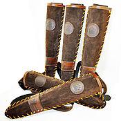 Аксессуары ручной работы. Ярмарка Мастеров - ручная работа Колчан Шатун темно коричневый. Handmade.